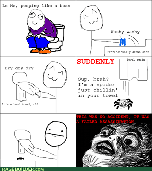 failed assassination Like a Boss Rage Comics spiders towel - 6157781504