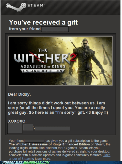 im sorry IRL make up relationships steam the witcher 2 - 6157804288