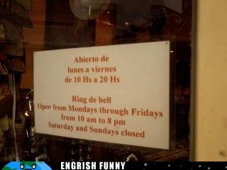 abierto cerrado FRIDAY hours hours of operation monday restaurant saturday sunday week