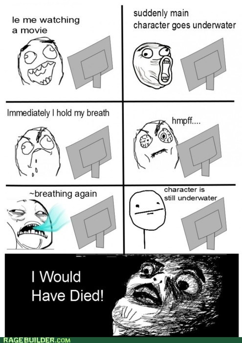 dead,hold breath,howd-he-do-it,Movie,Rage Comics,underwater