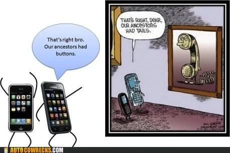 ancestors comics new phones no buttons no cords old phones - 6158024704