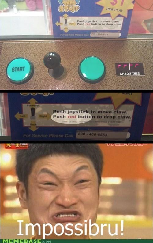blue button impossibru Memes red - 6158104064
