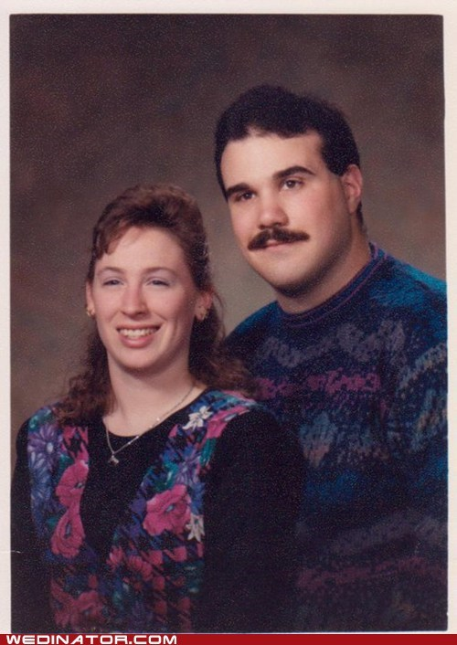 1980s,funny wedding photos,sweaters