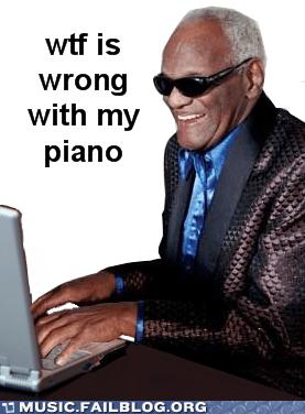 blind computer piano ray charles - 6158137856