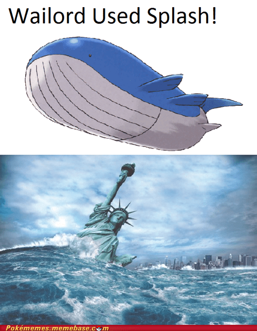 comic goodbye world IRL splash wailord