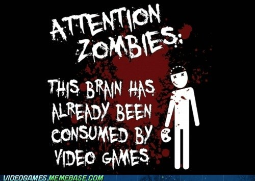 brains consumed gamers safe the internets zombie - 6158155776