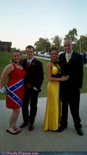 confederate flag,dress,prom,racist