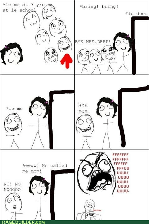 kids mom Rage Comics teacher - 6158410752