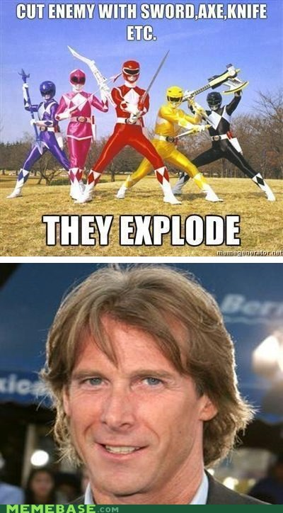 axe bad guy explosion Memes Michael Bay power rangers - 6158419712
