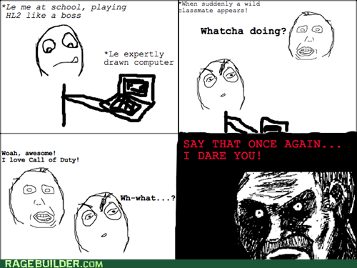 call of duty,FPS,half-life 2,omg,rage comic
