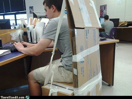 cardboard,chair,Georgia,public school