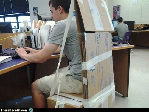 cardboard chair Georgia public school - 6158561792