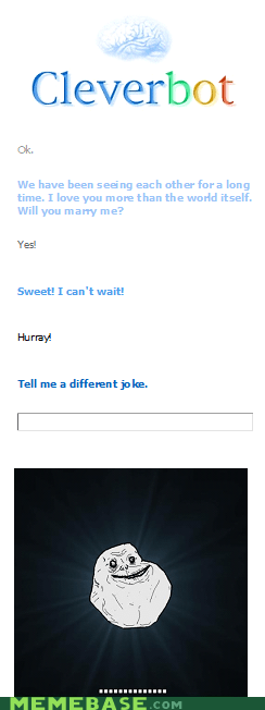 forever alone friendzone Cleverbot - 6158882816