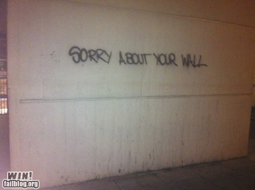 apology,graffiti,hacked irl,polite,sorry