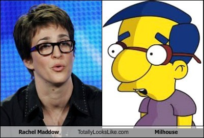 funny,milhouse,Rachel Maddow,the simpsons,TLL