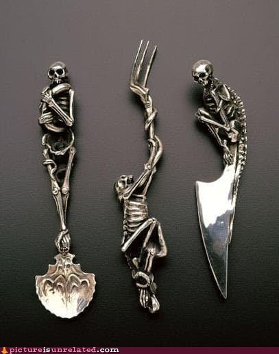 best of week,creepy,Death,silverware,skeleton,wtf