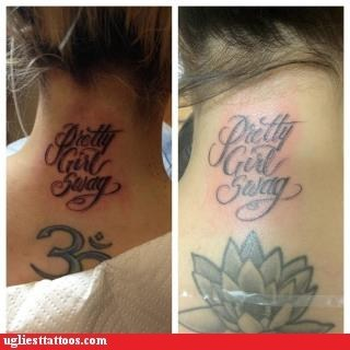 neck tattoo pretty girl swag soulja-boy-tell-em - 6159969792
