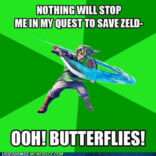 Link has serious ADHD problems...
