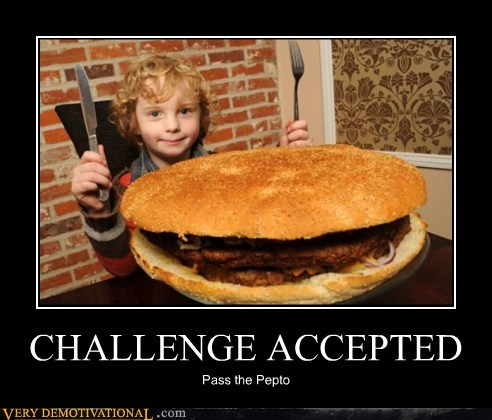 burger Challenge Accepted eww hilarious kid - 6160659712