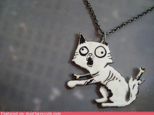 Jewelry kitty necklace pendant zombie - 6160971264