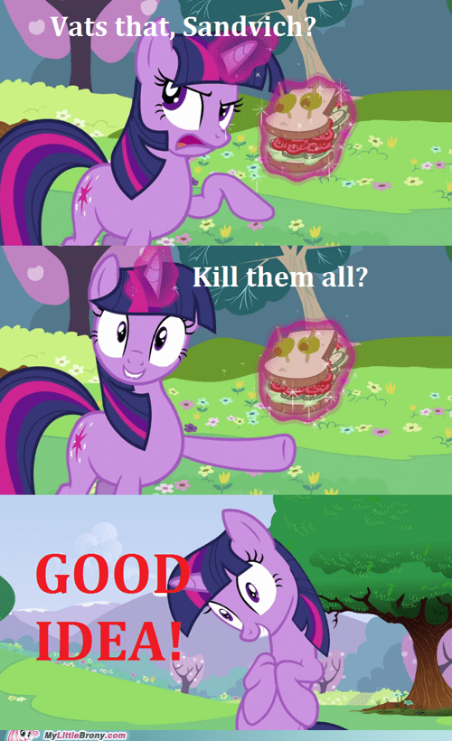 comics,crazy,good idea,sandvich,sandwich,twilight sparkle