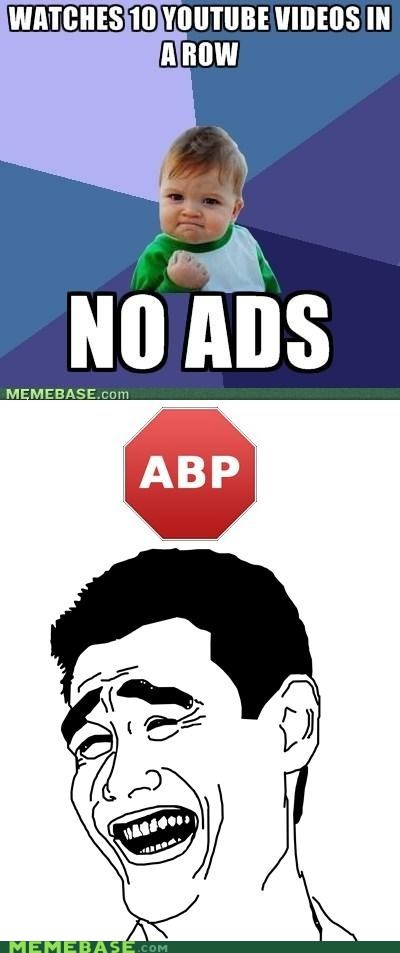 ad block,ads,learn 2,success kid,youtube