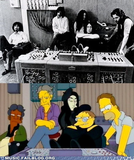 recording simpsons the Beatles the simpsons TV