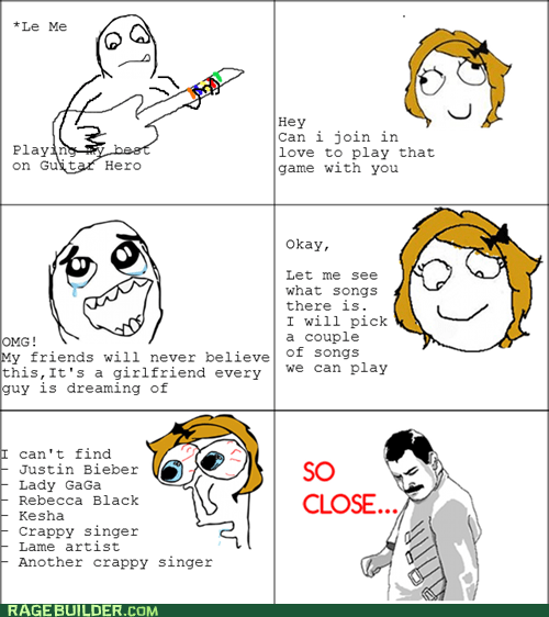 Guitar Hero justin bieber Music Rage Comics so close - 6161761024