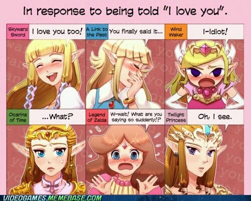 i love you link Sad the feels zelda