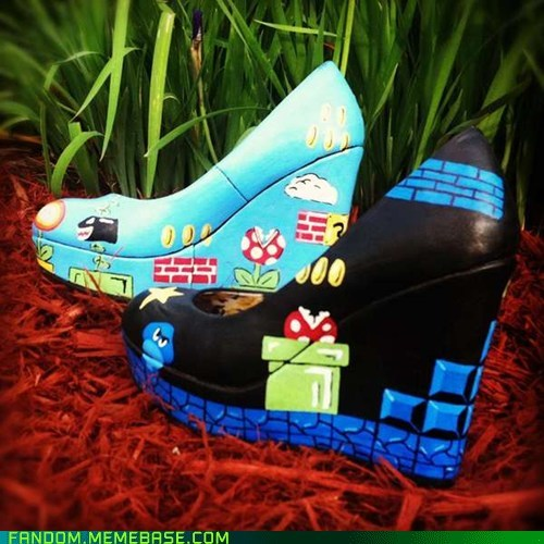 best of the week Fan Art shoes Super Mario bros video games - 6162049792