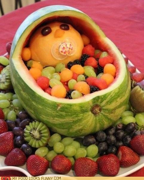 baby fruit fruit salad melon pacifier salad