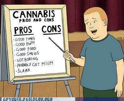 bobby cannabis hank hill King of the hill marijuana pot pros and cons weed