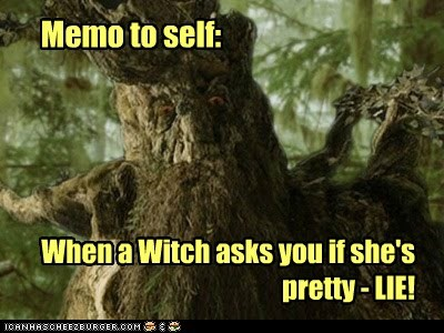 ent lie Lord of the Rings meme note to self pretty treebeard witch