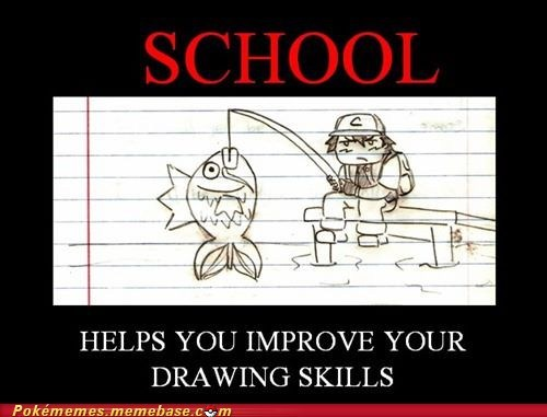art bored drawing pokemon school wasting time - 6162203648