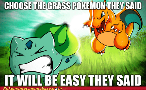bulbasaur,charizard,grass pokemon,Memes,starters,They Said