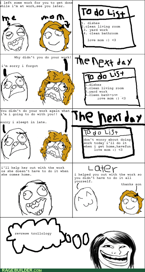 mom Rage Comics reverse psychology to do troll mom - 6162228224