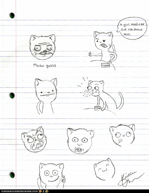 Cats drawings illustrations kitties Memes Rage Comics rage faces - 6162284032