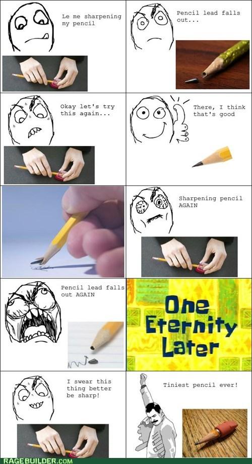 lead pencils Rage Comics school sharpen - 6162292992