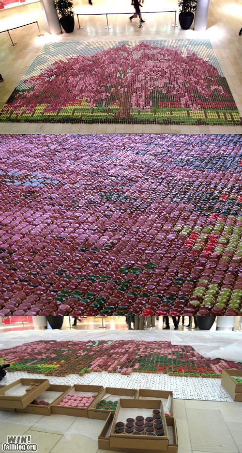 art cake cupcakes food mosaic - 6162545920