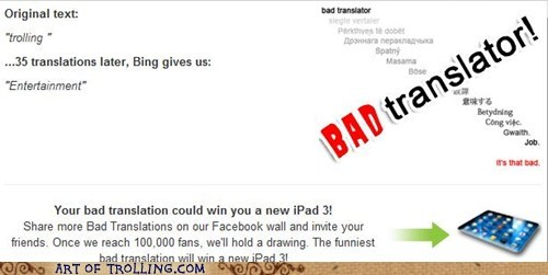 Bad Translator entertainment fun trolling - 6162553344