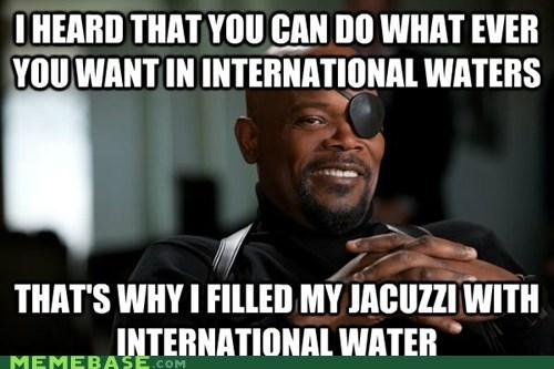 avengers international water jacuzzi Memes Nick Fury - 6162641408