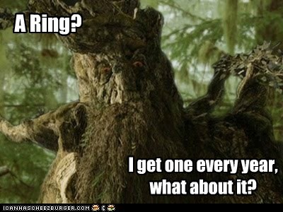 ent Growing Lord of the Rings ring tree treebeard unimpressed what about it
