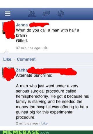 dudes,facebook,medical procedure,sexism