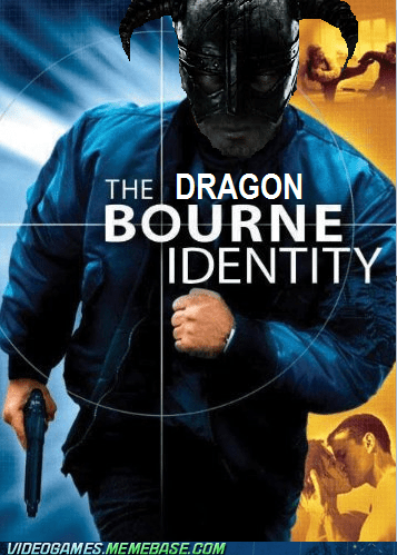 bourne identity,crossover,dragon bourne,dragon shouts,Skyrim