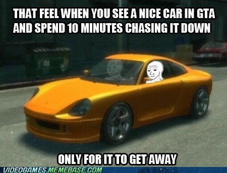get away,Grand Theft Auto,rare car,the feels