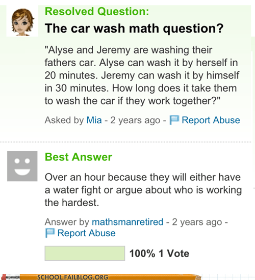 math problems,siblings,the worst,washing cars,yahoo answers