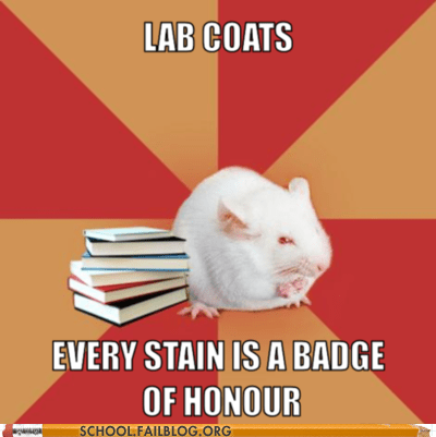 badge of honor every stain lab coats science major mouse - 6164580096