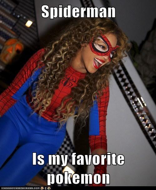 beyoncé,celeb,costume,funny,Music,Spider-Man