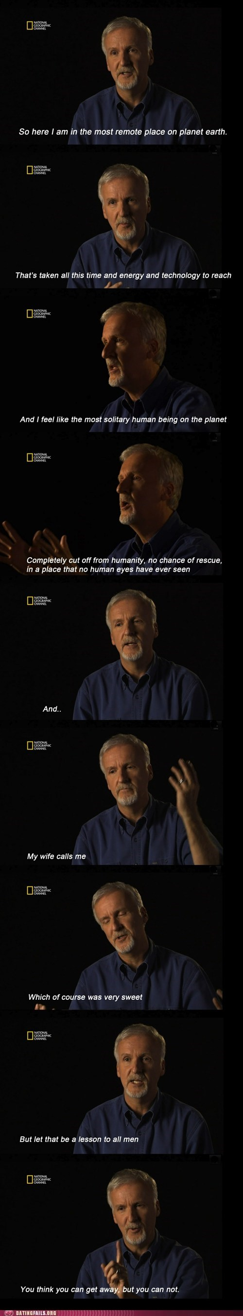 james cameron,most remote place on earth,no escaping,technology,titanic
