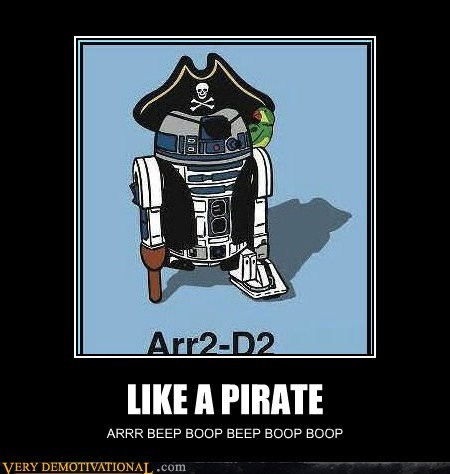 art hilarious Pirate r2-d2 - 6164965632